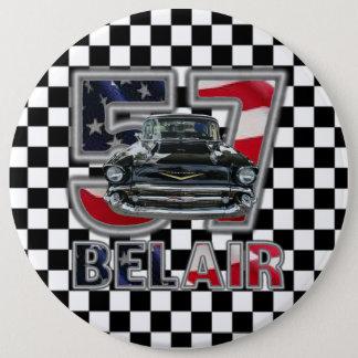 1957年のChevy Bel Airボタン 15.2cm 丸型バッジ