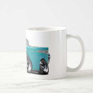 1957年のChevy Belairのターコイズのコンバーチブルは改造しました コーヒーマグカップ