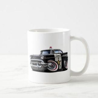 1957年のChevy Belairのパトカー コーヒーマグカップ
