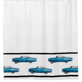 1957年のChevy BelAireクラシックな車のシャワー・カーテン シャワーカーテン