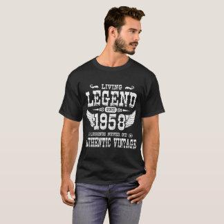 1958年の伝説以来の生きている伝説は決して死にません Tシャツ