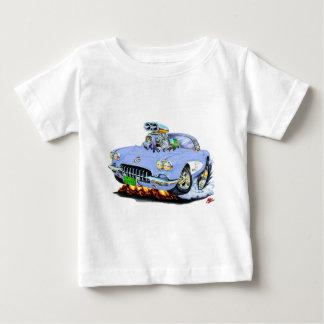1958-60年のコルベットの淡いブルーの車 ベビーTシャツ