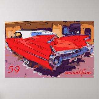 1959キャデラックのsmoothflow ポスター