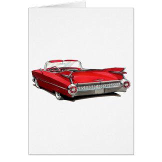 1959年のキャデラックの赤車 カード