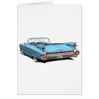 1959年のキャデラックのLt Blue Car カード