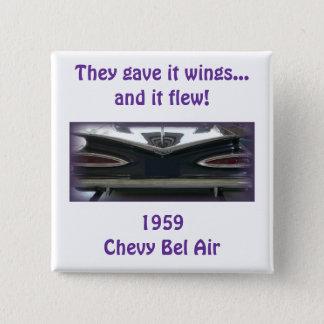 1959年のChevy Bel Air 5.1cm 正方形バッジ