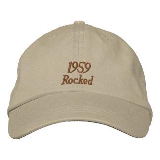 1959揺すられた刺繍された帽子 刺繍入りキャップ