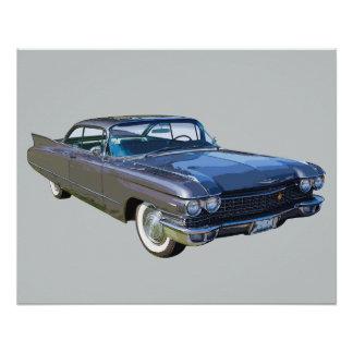 1960年のキャデラックのクラシックで贅沢な車 ポスター
