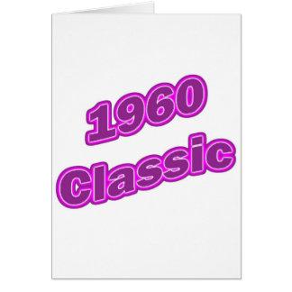 1960年のクラシックな紫色 カード