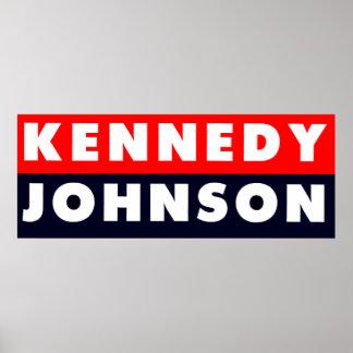 1960年のケネディジョンソンのバンパーステッカー ポスター