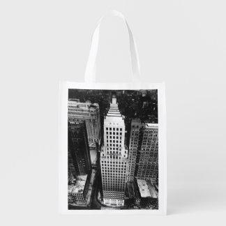 1960年:  シカゴの超高層ビルの空中写真 エコバッグ