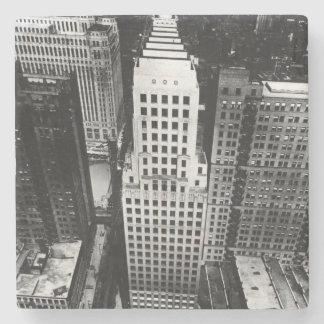 1960年:  シカゴの超高層ビルの空中写真 ストーンコースター