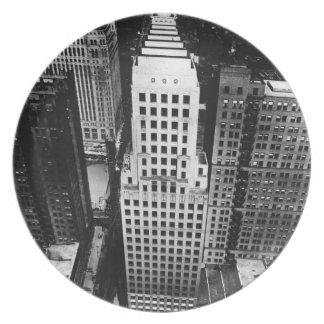 1960年:  シカゴの超高層ビルの空中写真 プレート