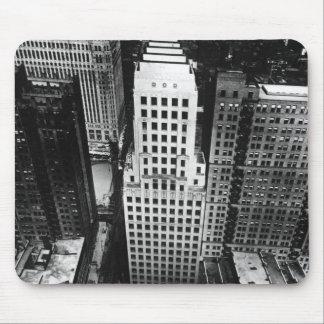 1960年:  シカゴの超高層ビルの空中写真 マウスパッド