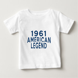 1961のアメリカの伝説の誕生日のデザイン ベビーTシャツ