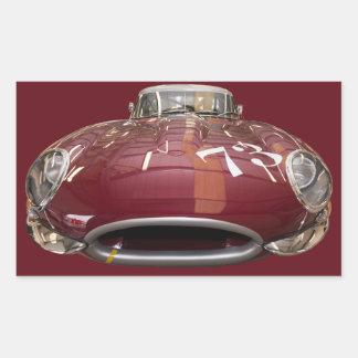 1961年からEタイプクラシックなジャガー 長方形シール
