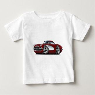 1961年のコルベットのあずき色車 ベビーTシャツ
