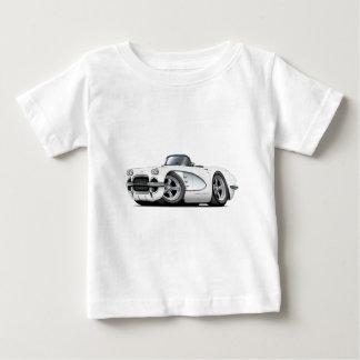 1961年のコルベットの白いコンバーチブル ベビーTシャツ