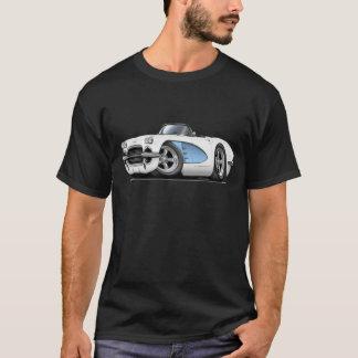 1961年のコルベットの白青いコンバーチブル Tシャツ