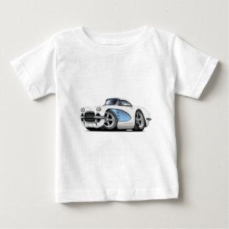 1961年のコルベットの白青い車 ベビーTシャツ