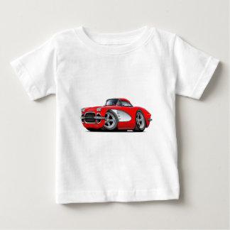 1961年のコルベットの赤車 ベビーTシャツ