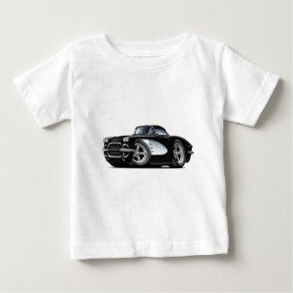 1961年のコルベットの黒い車 ベビーTシャツ