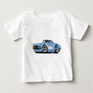 1961年のコルベットのLt Blue Car ベビーTシャツ