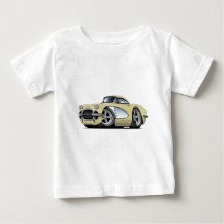 1961年のコルベットベージュ色車 ベビーTシャツ