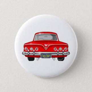 1961赤シボレー 5.7CM 丸型バッジ