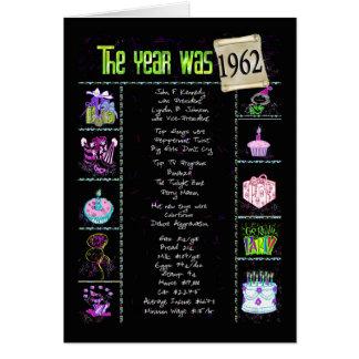 1962の誕生日のおもしろい事実 カード