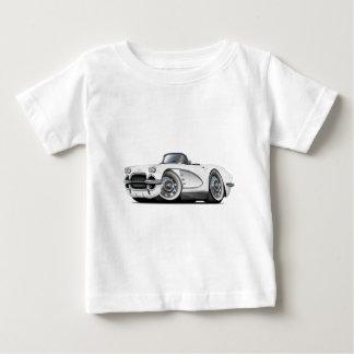 1962年のコルベットの白いコンバーチブル ベビーTシャツ