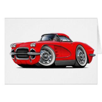 1962年のコルベットの赤車 カード