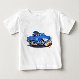 1962年のコルベットの青いコンバーチブル ベビーTシャツ