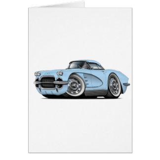 1962年のコルベットのLt Blue Car カード