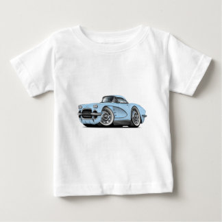 1962年のコルベットのLt Blue Car ベビーTシャツ