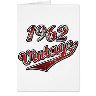1962年のヴィンテージ カード