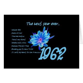 1962誕生日-ヒットソングの最も最高のな年 カード