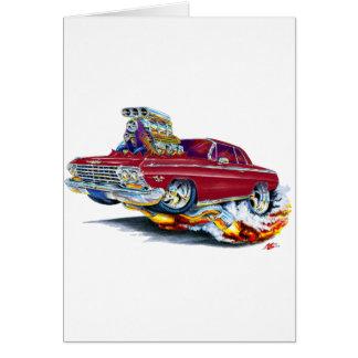 1962-63年のインパラのあずき色車 カード