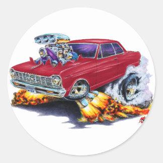 1962-65年の新星のあずき色車 ラウンドシール
