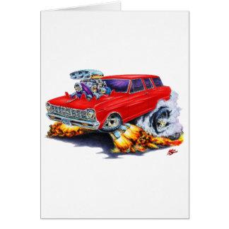 1962-65年の新星の赤ワゴン カード