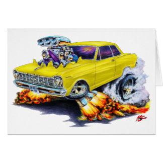 1962-65年の新星の黄色い車 カード