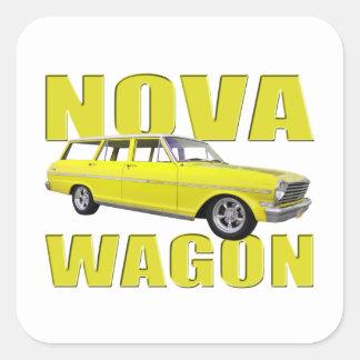 1963年の新星chevy IIワゴン黄色 スクエアシール
