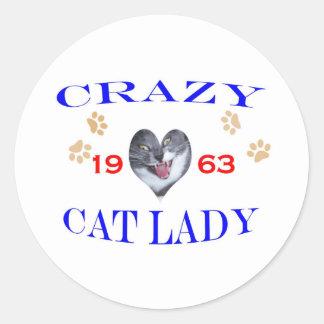 1963年の熱狂するな猫の女性 ラウンドシール