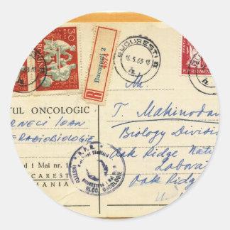 1963年-オーク・リッジの実験室、米国への腫瘍学ルーマニア ラウンドシール