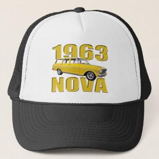 1963黄色い新星のchevy II longroofワゴン キャップ