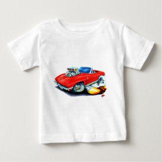 1963-64年のコルベットの赤いコンバーチブル ベビーTシャツ
