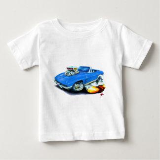 1963-64年のコルベットの青いコンバーチブル ベビーTシャツ