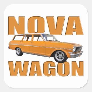 1963 chevy II新星のオレンジ スクエアシール