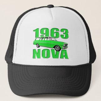 1963 chevy II新星ワゴン緑 キャップ
