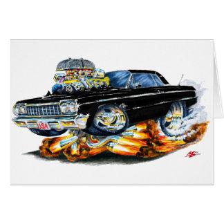 1964年のインパラの黒い車 カード